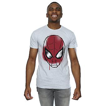 Marvel Men's Spider-Man Face Sketch T-Shirt
