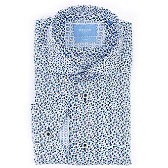 Tresanti Navy Floral Print Mens Shirt