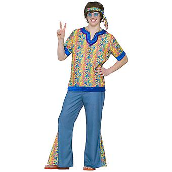 Far Out Dude 1970s Hippie Hippy Teen Men Costume STD