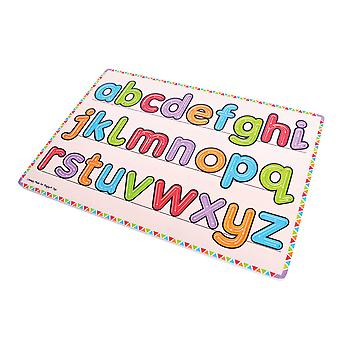 Bigjigs Toys Wooden Learn to Write Puzzle Board Educational Alphabet Letters