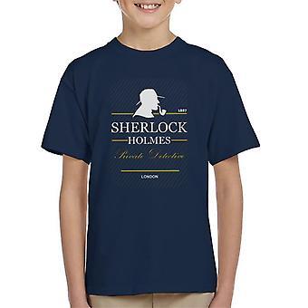 Sherlock Holmes prive-Detective 1887 Kid's T-Shirt