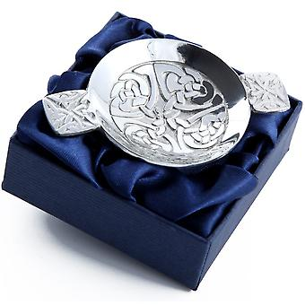 Celtic Knotwork Pewter Mini Quaich