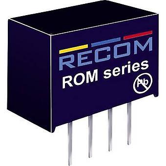 RECOM ROM-1212S DC/DC-omvandlare (utskrift) 12 V DC 12 V DC 83 mA 1 W Nr. av utgångar: 1 x
