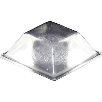 TOOLCRAFT PD2205C picior autoadezive, pătrat transparent (L x W x H) 20,5 x 20,5 x 7,5 mm 1 buc (e)