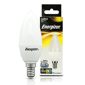 Energizer E14 SES Candle LED Bulb 470lm Opal 5.9W=40W Warm White Various Quantities