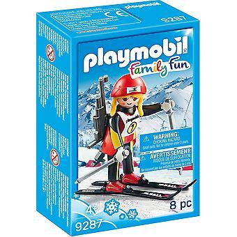 PLAYMOBIL 9287 rodziny zabawa kobieta rysunek biathlonista
