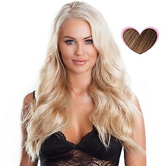 #8 helle Brünette - Clip-in Hair Extensions - vollen Kopf