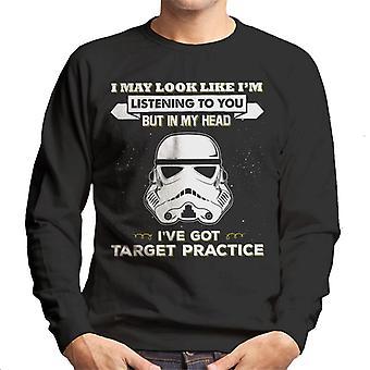 Stormtrooper original pode parecer Im ouvindo camiseta você homem