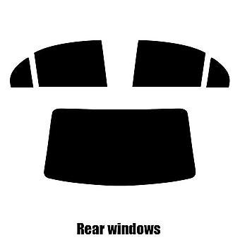 Pre cut window tint - Kia Pride 4-door Saloon - 2005 to 2011 - Rear windows