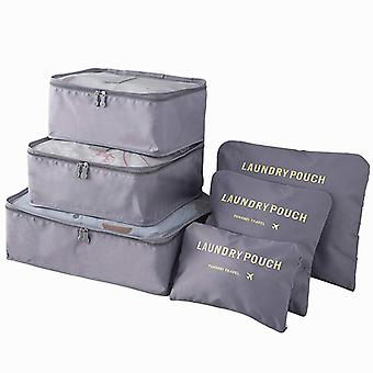 Organizing set for suitcases-grey