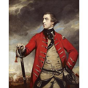 General John Burgoyne, Joshua Reynolds, 50x40cm
