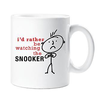 Mens jag skulle snarare att titta på Snooker mugg