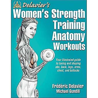 Delaviers kvinnors styrka träning anatomi träningspass