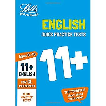 11+ English Quick Practice Tests Age 9-10 for the GL Assessment tests - Letts 11+ Success