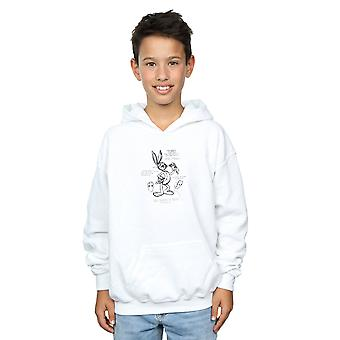Looney Tunes Boys Bugs Bunny Drawing Instruction Hoodie