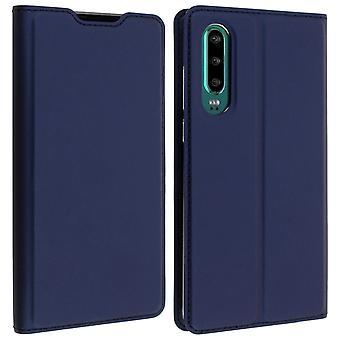 Fallet för Huawei P30 fall kort-holder synpunkt funktion Dux Ducis natt blå