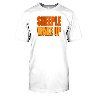 Sheeple Wake Up - spisek męskie T Shirt