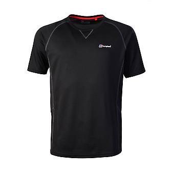 Berghaus Tech 2.0 Hombres manga corta base camiseta al aire libre negro