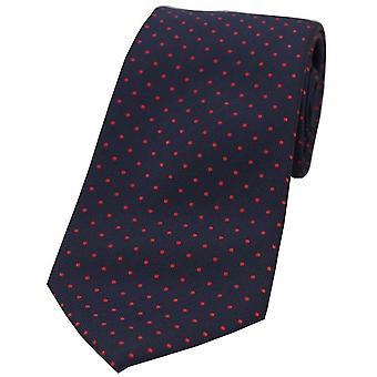 David Van Hagen Pin Dot Tie Polyester - bleu/rouge