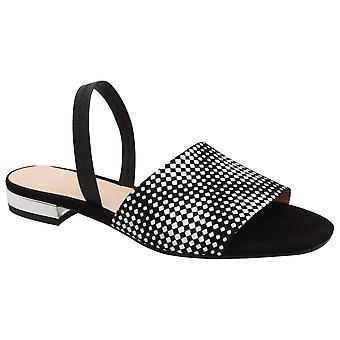 Perlato Monochrome Open Toe Sling Back Sandal