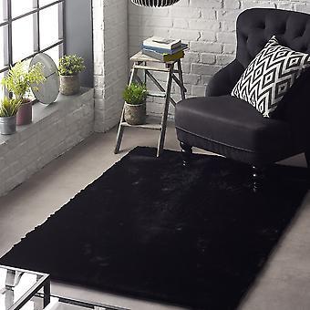 Glänsande mattor i svart