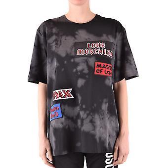 Love Moschino Ezbc061041 Women's Black Cotton T-shirt