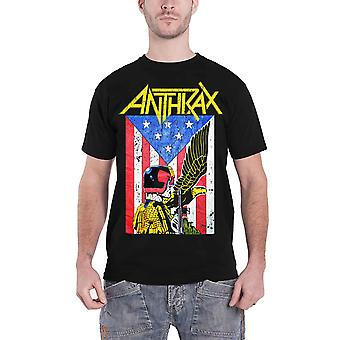 Anthrax T Shirt Dredd Eagle Band Logo new Official Mens Black