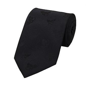 Schlips Krawatte Krawatten Binder 8cm schwarz Totenkopf muster Fabio Farini