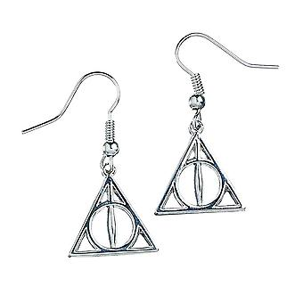Harry Potter Silver Plated Deathly Hallows Drop Ohrringe
