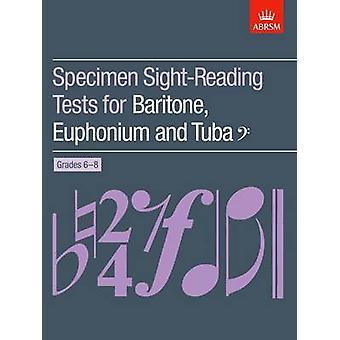 Specimen Sight-Reading Tests for Baritone - Euphonium and Tuba Bass C