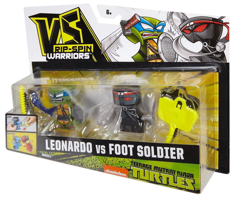 Vs Rip-spin Warriors Teenage Mutant Ninja Turtles Leonardo Vs Foot Soldier