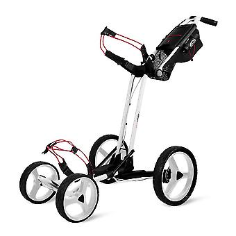 Sun Mountain Pathfinder 4 Rueda Push Cart Golf Trolley Blanco