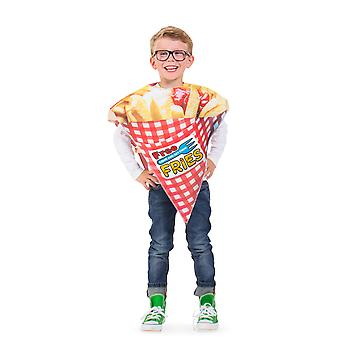 Pommes saco de batatas fritas traje criança
