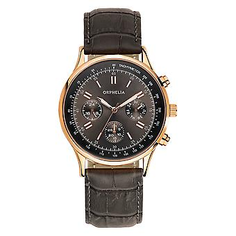 ORPHELIA analogico Mens Watch Champions League in pelle grigia OR81507