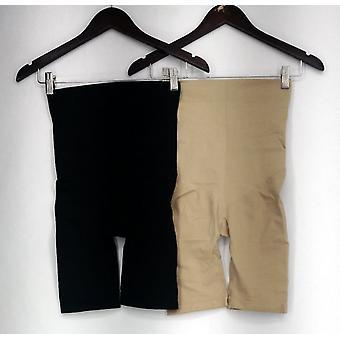 Slim N Lift Shaper Set of 2 Infused Short Shapers Beige / Black C409826