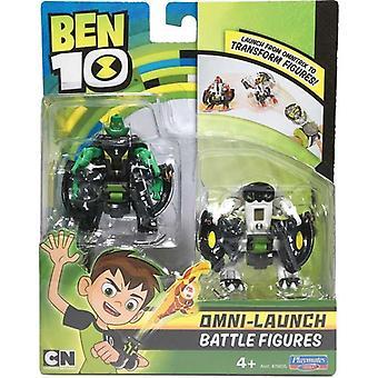 Ben 10, Omni-Launch Figurer - Diamondhead och Cannonbolt