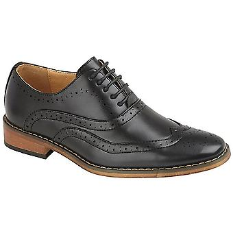 Goor Mens 5 Eye Brogue Oxford Shoe