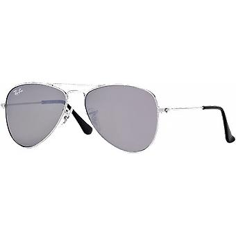 Ray-Ban Aviator Junior Silver Grey Miroité Silver