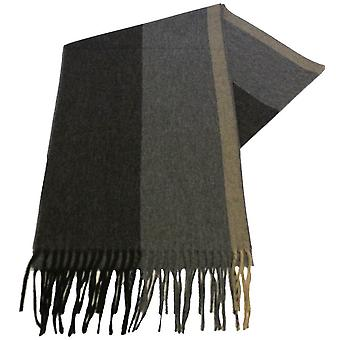 Fraas Striped Scarf - Black/Grey
