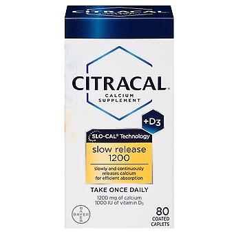 Citracal calcium + d, slow release 1200, coated tablets, 80 ea