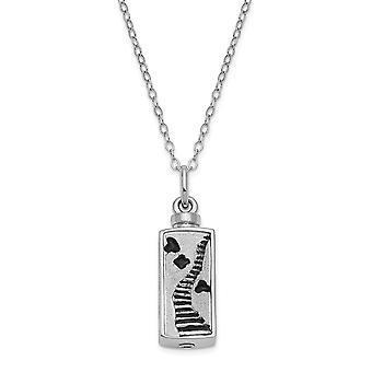 925 Sterling Silver Gift zakje Spring Ring gepolijst terug Rhodium verguld geëmailleerde trap naar de hemel ashouder 18inch Ne