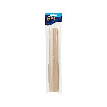 2 деревянный дюбель стержни для поделок - 2,2 см широкий x 30 см длиной