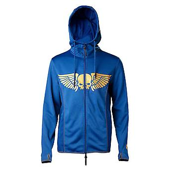 Warhammer 40K Hoodie Space Marines Logo new Official Mens Blue Pullover