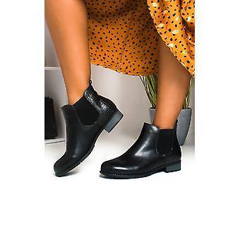 إيكروش بيج النسائي الجلد فو ثعبان جلد أحذية الكاحل