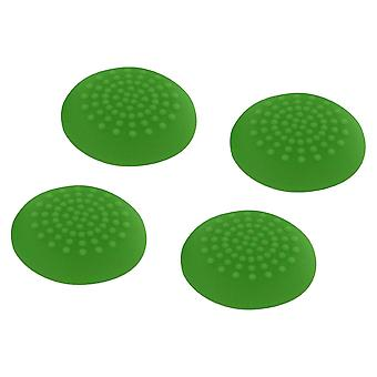 Convex soft silicone thumb grips for sony ps4 controller analog sticks - 4 pack green