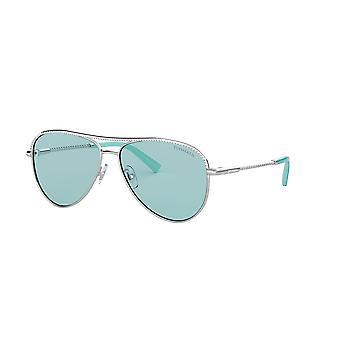 Tiffany TF3062 6136D9 Silver/Light Azure Sunglasses