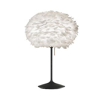Umage Eos Table Lamp - White Feather Eos Medium/Black Stand