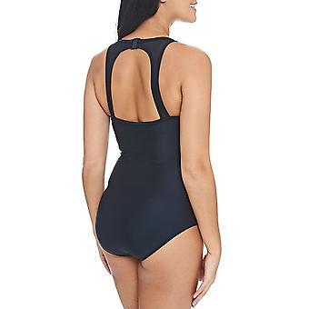 Zoggs Womens Merengo mesh clip terug zwemmen zwemmen zwembad badpak kostuum-zwart