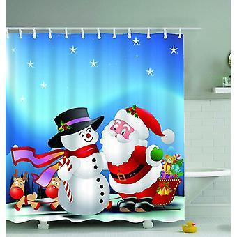 Christmas Digital Cartoons Shower Curtain