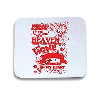 White mouse pad pad gen0610 grandma heaven in my home white